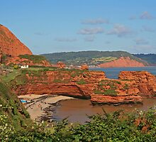 Ladram Bay by RedHillDigital