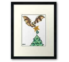 2013 Holiday ATC 8 - Bat and Christmas Star Framed Print