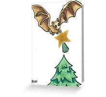 2013 Holiday ATC 8 - Bat and Christmas Star Greeting Card