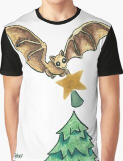 2013 Holiday ATC 8 - Bat and Christmas Star Graphic T-Shirt