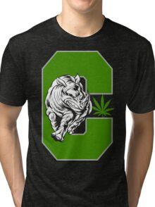 White Rhino Cannabis Tri-blend T-Shirt