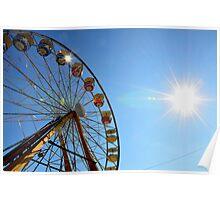 sun flare ferris wheel Poster