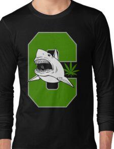 Great White Shark Cannabis Long Sleeve T-Shirt