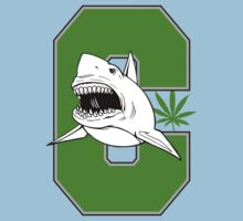 Great White Shark Marijuana by MarijuanaTshirt