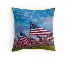 Wave of Flags Throw Pillow
