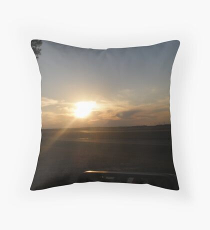 Skies Over Pope Air Force Base Throw Pillow