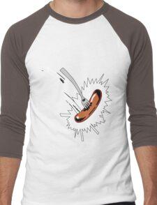 aaaah sausage Men's Baseball ¾ T-Shirt