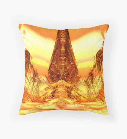 Quetzal Stargate Bridge Throw Pillow
