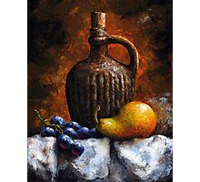 Pear and grapes - sl21 Photographic Print