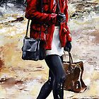 Rainy day - Woman of New York /09 by Imre Toth (Emerico)