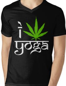 I Cannabis Yoga Mens V-Neck T-Shirt