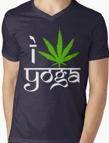 I Cannabis Yoga Mens V-Neck T-Shirt