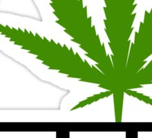 I Marijuana Yoga Sticker