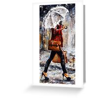 Rainy day - Woman of New York /17 Greeting Card
