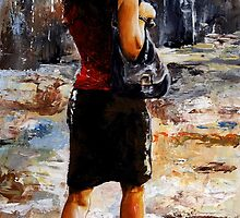 Rainy day - Woman of New York /04 by Imre Toth (Emerico)