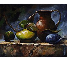 Pear and plum - sl20 Photographic Print