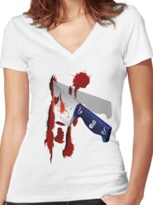 The Butcher Knife Women's Fitted V-Neck T-Shirt