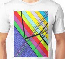 Diagonal Color - Abstract Unisex T-Shirt