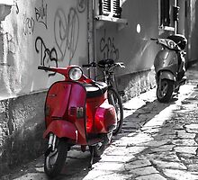 Red Scooter by John Murray