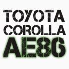 Toyota Corolla AE86 by Deccy43