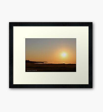 Summer Sunrise | Flanders, New York Framed Print