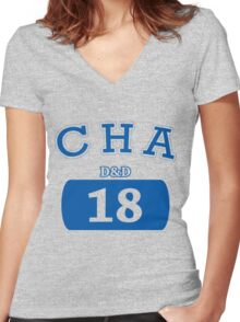 Varisty D&D - Charisma Women's Fitted V-Neck T-Shirt
