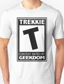 Rated T for Trekkie (Black) T-Shirt