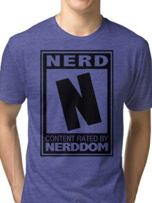 Rated N for Nerd (Black) Tri-blend T-Shirt