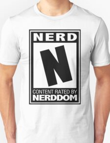Rated N for Nerd (Black) T-Shirt