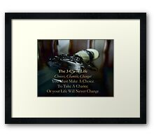 The 3 C's of Life Framed Print