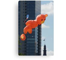Flying Bear Watches Over City of Milwaukee Canvas Print