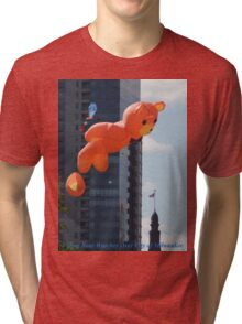 Flying Bear Watches Over City of Milwaukee Tri-blend T-Shirt