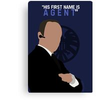 """His First Name is """"AGENT."""" Canvas Print"""