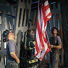 Raising The Flag At Ground Zero, Wax Figures Representation by Jane Neill-Hancock