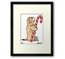 2013 Holiday ATC 1 - Prairie Dog Candy Cane Framed Print