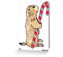 2013 Holiday ATC 1 - Prairie Dog Candy Cane Greeting Card