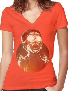 FIREEE! Women's Fitted V-Neck T-Shirt
