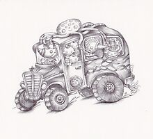 Monster Bus III by Heather Munro