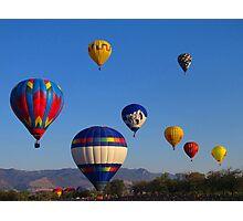 Balloon Launch Photographic Print