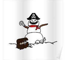 Christmas Pirate Snowman Poster