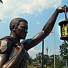Rebirth and Rememberance, Statue and Lantern, 9-11 Memorial by Jane Neill-Hancock