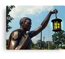 Rebirth and Rememberance, Statue and Lantern, 9-11 Memorial Canvas Print