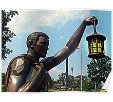 Rebirth and Rememberance, Statue and Lantern, 9-11 Memorial Poster