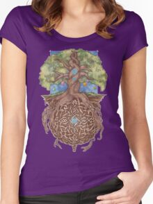 Gaia Life Tree Women's Fitted Scoop T-Shirt