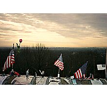 April 2002 Sunrise At Eagle Rock Lookout - Home made Memorials to 9-11 Photo 1 Photographic Print