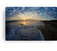 foam wash on beach Canvas Print