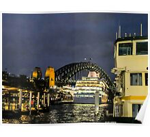 Boat on Sydney Harbour. Poster