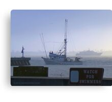 Swimming, Fishing and Ferries Canvas Print