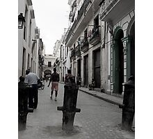 Cuban Street scene, vertical. Photographic Print