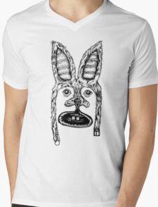 Bunny Mask Mens V-Neck T-Shirt